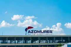 Logotipo de Azomures, produtor do adubo imagem de stock