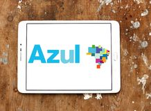 Logotipo de Azul Brazilian Airlines imagens de stock
