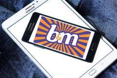 Logotipo de B&M European Retail Value imágenes de archivo libres de regalías