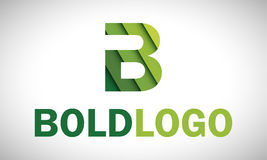 Logotipo de B - verde Foto de Stock