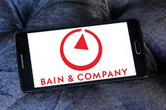 Logotipo de Bain & Company Foto de archivo
