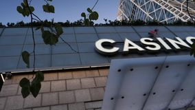 Logotipo de Barcelona del casino almacen de metraje de vídeo