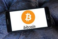 Logotipo de Bitcoin Imágenes de archivo libres de regalías