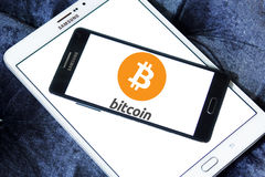 Logotipo de Bitcoin Imagen de archivo libre de regalías