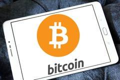 Logotipo de Bitcoin Imagenes de archivo