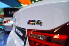 Logotipo de BMW M4 Imágenes de archivo libres de regalías
