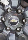 Logotipo de Chevrolet en la rueda fotografía de archivo libre de regalías