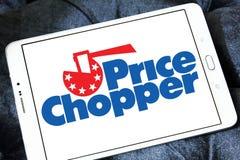 Logotipo de Chopper Supermarkets do preço fotografia de stock