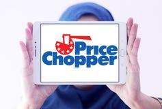 Logotipo de Chopper Supermarkets do preço imagem de stock