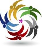 Logotipo de cinco pares da estrela Imagens de Stock