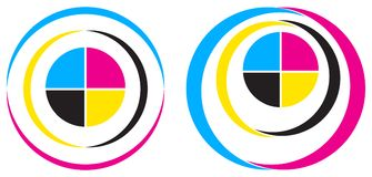 Logotipo de Cmyk Fotos de Stock Royalty Free