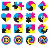 Logotipo de CMYK Imágenes de archivo libres de regalías