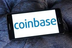 Logotipo de Coinbase Foto de archivo