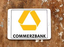 Logotipo de Commerzbank fotografia de stock royalty free