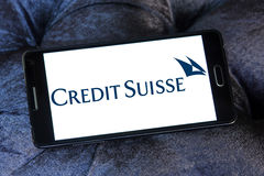 Logotipo de Credit Suisse imagens de stock
