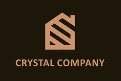 Logotipo de cristal da empresa Imagens de Stock Royalty Free