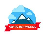 Logotipo de cumes suíços ilustração royalty free