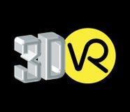 logotipo de 3D VR Fotos de archivo