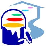 Logotipo de decoração da casa Foto de Stock Royalty Free