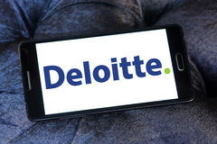 Logotipo de Deloitte Fotografía de archivo libre de regalías