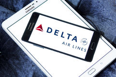 Logotipo de Delta Airlines Imagem de Stock Royalty Free