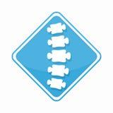 Logotipo de diagnóstico médico del centro de la espina dorsal del vector ilustración del vector