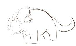 Logotipo de Dino Imagens de Stock Royalty Free