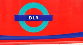 Logotipo de DLR no lado de um trem fotografia de stock