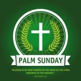 Logotipo de domingo de palma ilustração royalty free