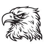 Logotipo de Eagle Head Mascot Vector Drawing Fotos de archivo