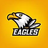 Logotipo de Eagle para el equipo de deporte Fotografía de archivo