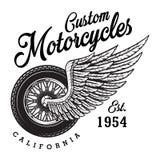Logotipo de encargo monocromático de la motocicleta Imagen de archivo