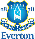 Logotipo de Everton Football Club Fotografia de Stock Royalty Free