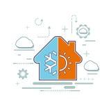 Logotipo de facilidades da ventilação e do condicionamento de ar Imagens de Stock Royalty Free
