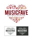 Logotipo de Fave da música Foto de Stock Royalty Free