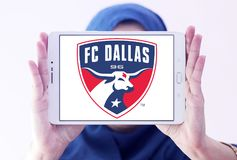 Logotipo de FC Dallas Soccer Club foto de stock
