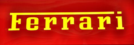 Logotipo de Ferrari Fotos de Stock