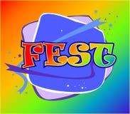 Logotipo de Fest Fotografia de Stock