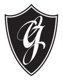 Logotipo de G de la letra Logotipo, etiqueta, emblema stock de ilustración