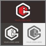 Logotipo de G e de I Imagens de Stock