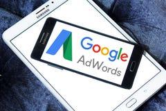 Logotipo de Google AdWords Imágenes de archivo libres de regalías