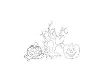 Logotipo de Halloween Stock de ilustración