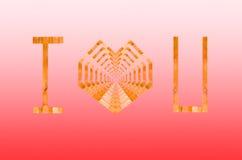 Logotipo de Iloveyou Imagens de Stock