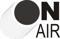 Logotipo de Ilustrated quando emissões de rádio Imagens de Stock Royalty Free