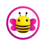 Logotipo de la abeja, ejemplo colorido stock de ilustración