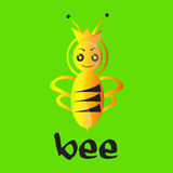 Logotipo de la abeja reina Fotos de archivo