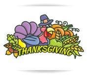 Logotipo de la acción de gracias Imagen de archivo libre de regalías