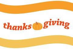 Logotipo de la acción de gracias Foto de archivo