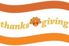 Logotipo de la acción de gracias Imágenes de archivo libres de regalías