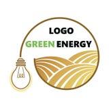 Logotipo de la agricultura Logotipo con un campo del trigo Logotipo estilizado del eco Campos verdes de la energía Ilustración de libre illustration